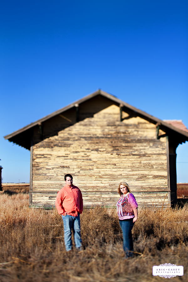 Rustic, Romantic, Modern Engagement Pictures of Kira Miles and LC Bloomer in Lubbock Texas by Lubbock and Texas Wedding and Portrait Photographers Aric + Casey Photography