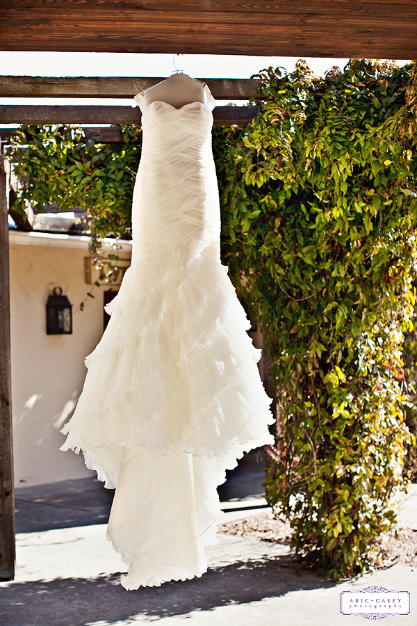 Miss New Mexico 2004, Jenna Hardin's beautiful, romantic, sexy wedding dress for her wedding at Marquardt Ranch in Texas Hill Country photographed by Aric and Casey Lampert of Aric and Casey Photography