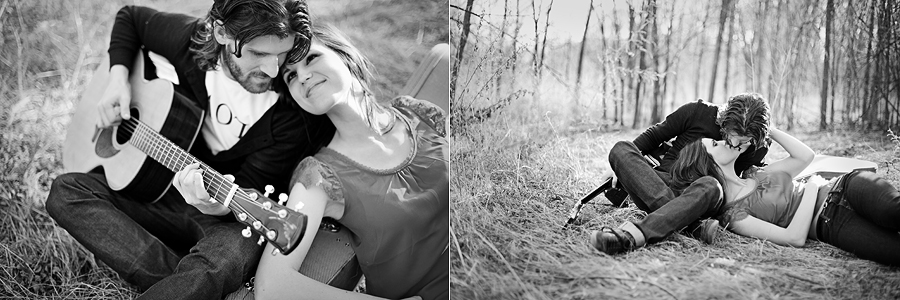beautiful black and white images of caitlin vaughn and ryan thurman by aric and casey photography
