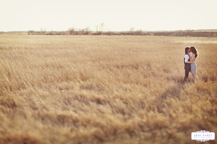 epic sweet, lovely simple engagement photos in a field by aric and casey