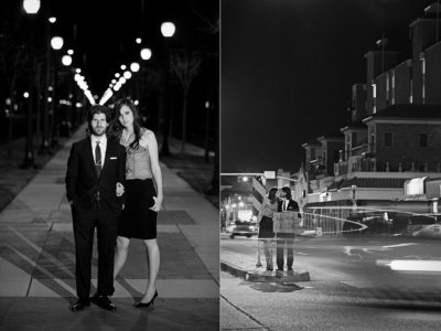 nighttime engagement pictures by aric and casey photography