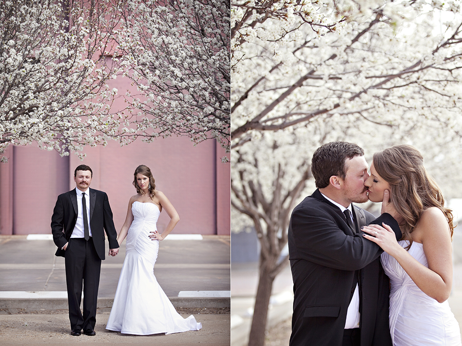 Spring Wedding PIctures, Kaci Sparks and Grady Spencer's lovely intimate wedding ceremony in Lubbock, Texas photographed by Lubbock's Romantic and modern wedding photographers, Aric + Casey Photography