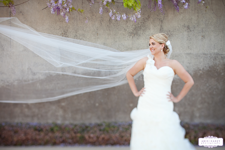Beautiful lilac overhang for bridal portraits