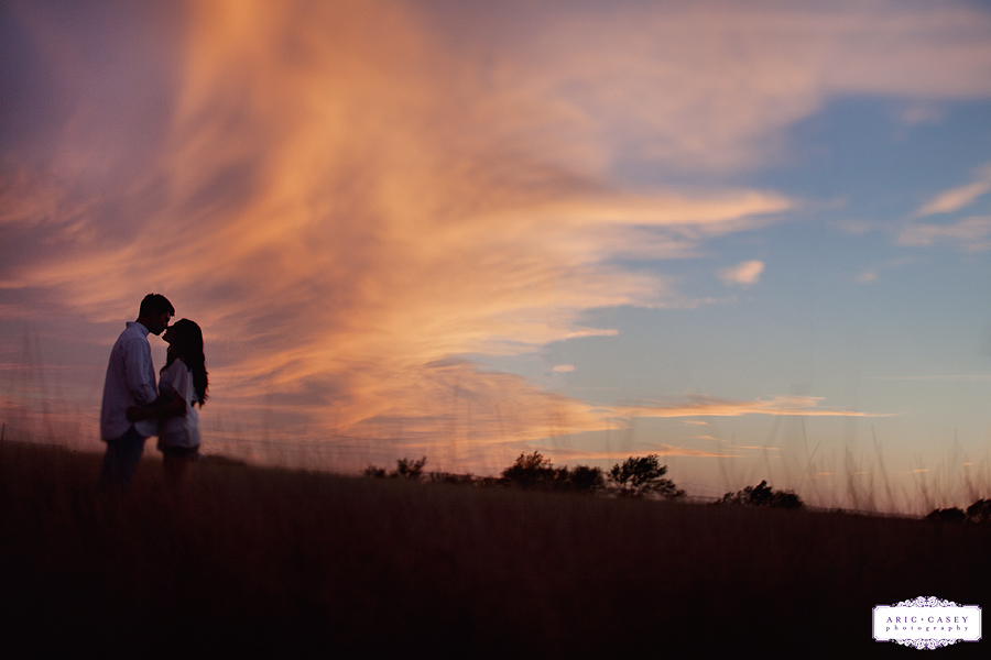 beautiful west texas sunset engagement photos, megan gafford and aaron engagement pictures by aric and casey photography
