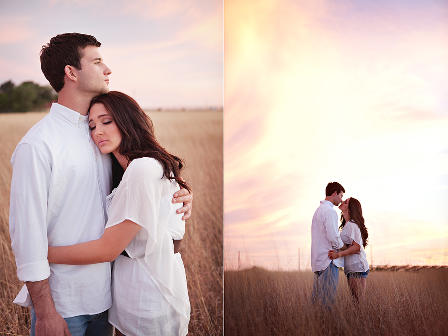 Lubbock Backyard wedding, beautiful romantic engagement photos of a gorgeous couple in Lubbock Texas, Megan Gafford and Aaron's Romantic Sunset Engagement pictures by aric and casey photography