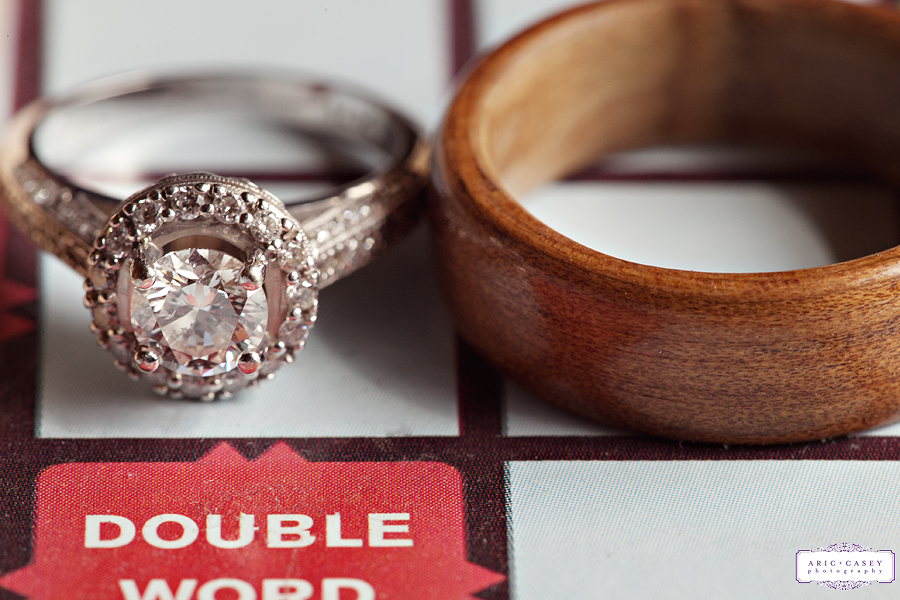 Scrabble board wedding proposal wedding rings