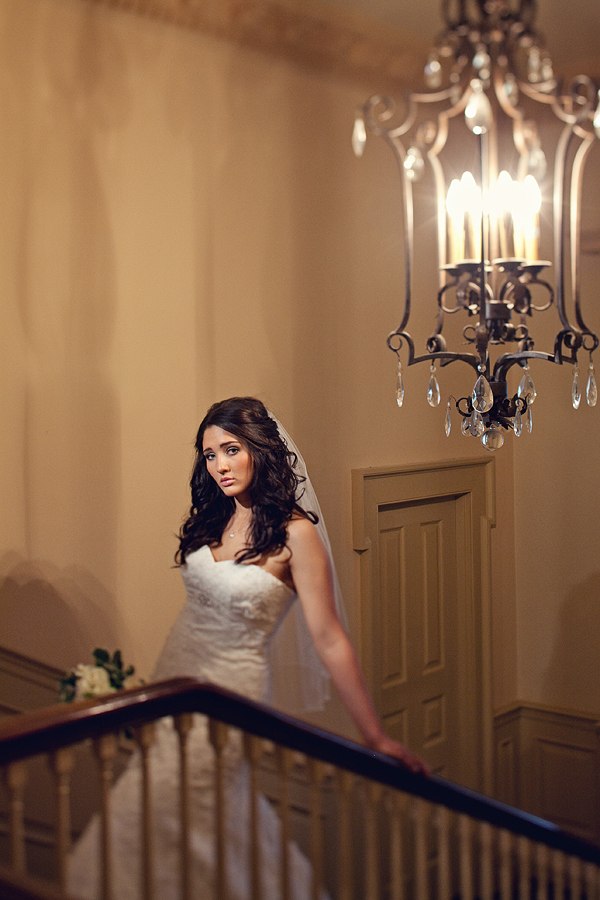 Beautiful Wedding Photography: Bride and Chandelier