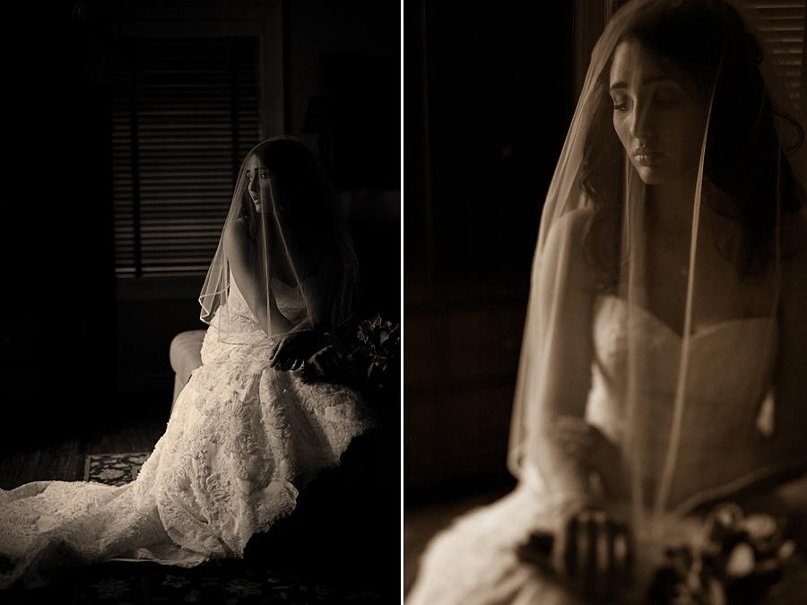 Lubbock Bridal Portraits: Blusher veil