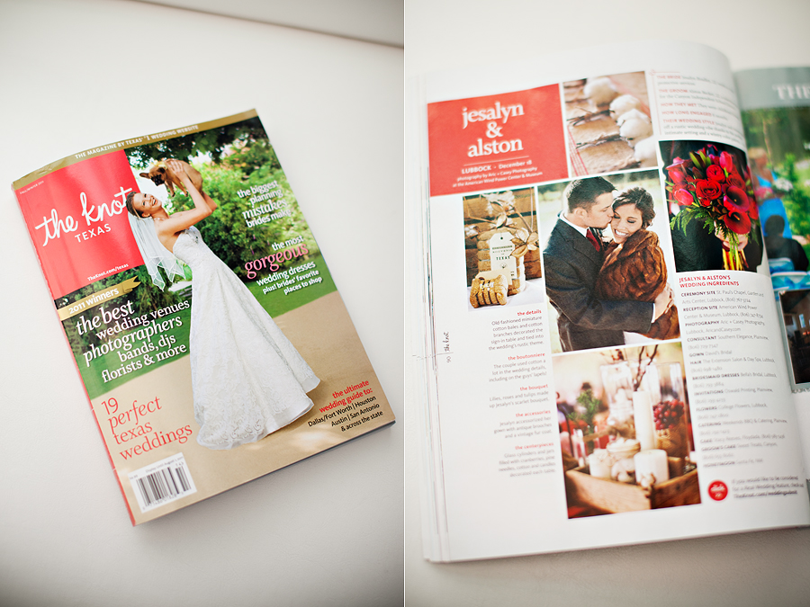 Lubbock Wedding Photographer Featured in The Knot Magazine