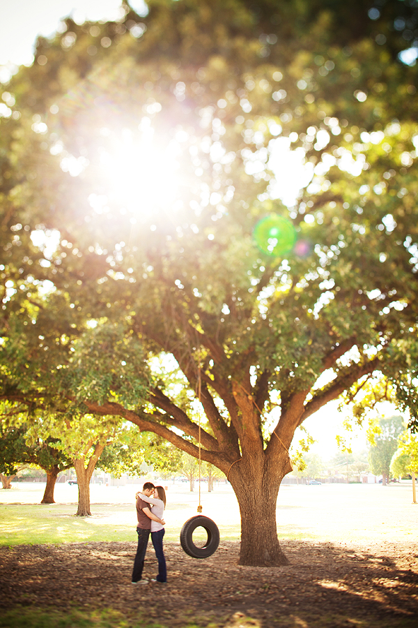 Tire swing downtown lubbock lifestyle engagement session