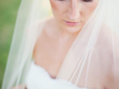 Bridal Photographs, Strapless Wedding Dress, Natural Wedding Make-up, Outdoor Bridal Portrait