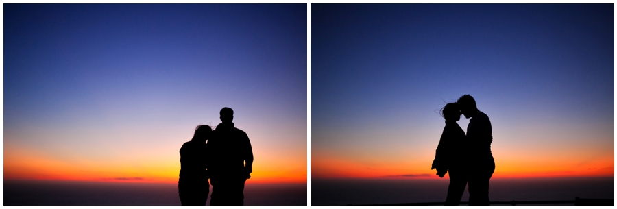 Silhouettes at dusk