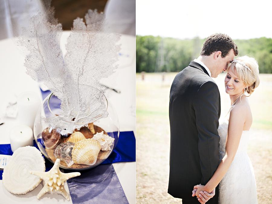 beach seashell wedding in Lubbock Texas