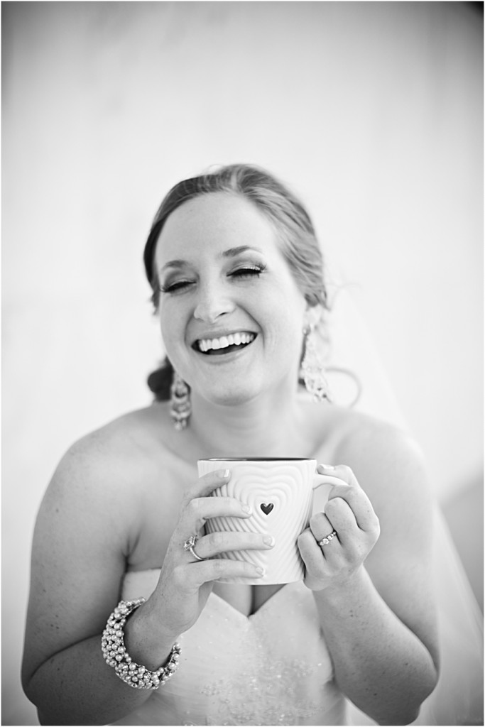 Bride and coffee mug