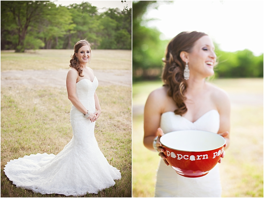 Fun bridals with popcorn