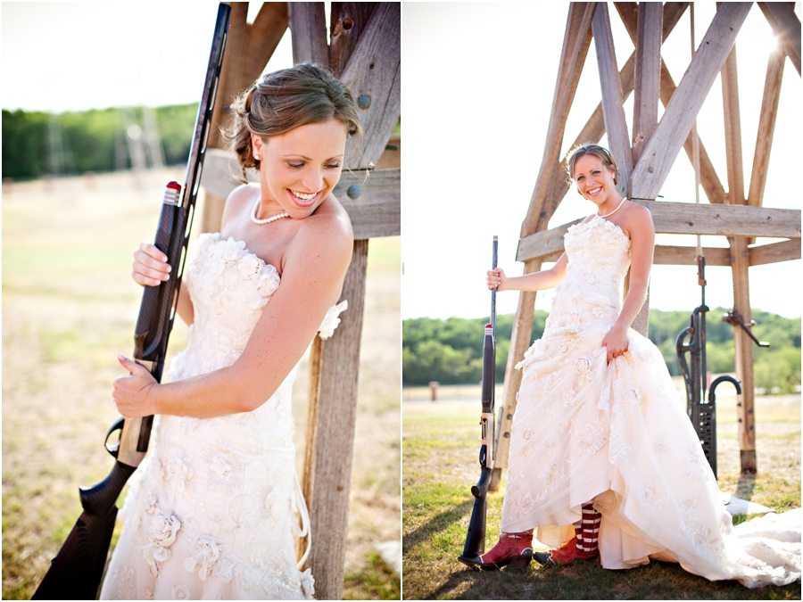 bride with shotgun