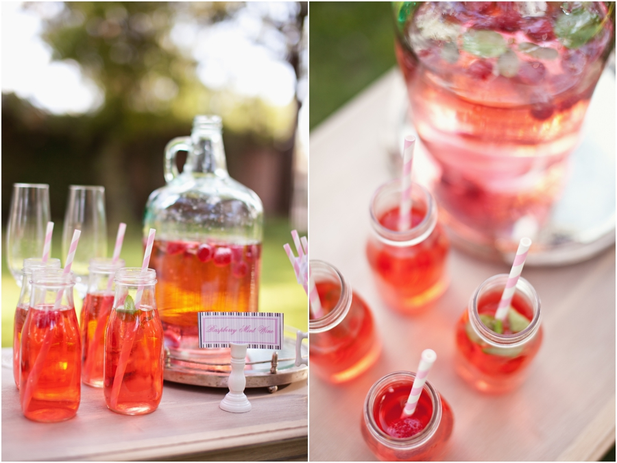 fun drinks and straws for wedding guests