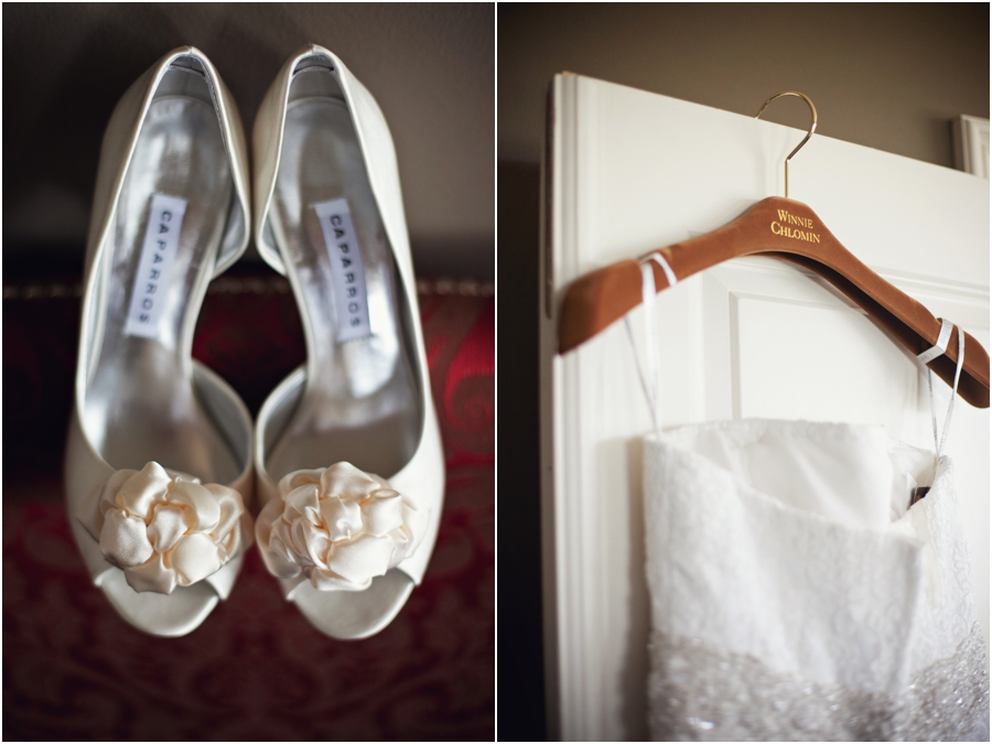 Winnie Couture wedding gown and capparos wedding shoes