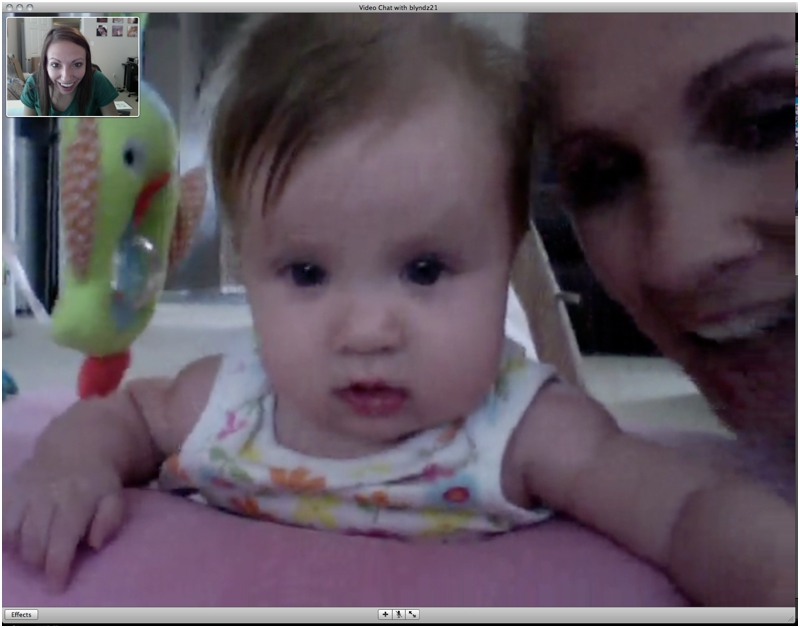 ichatting with my niece