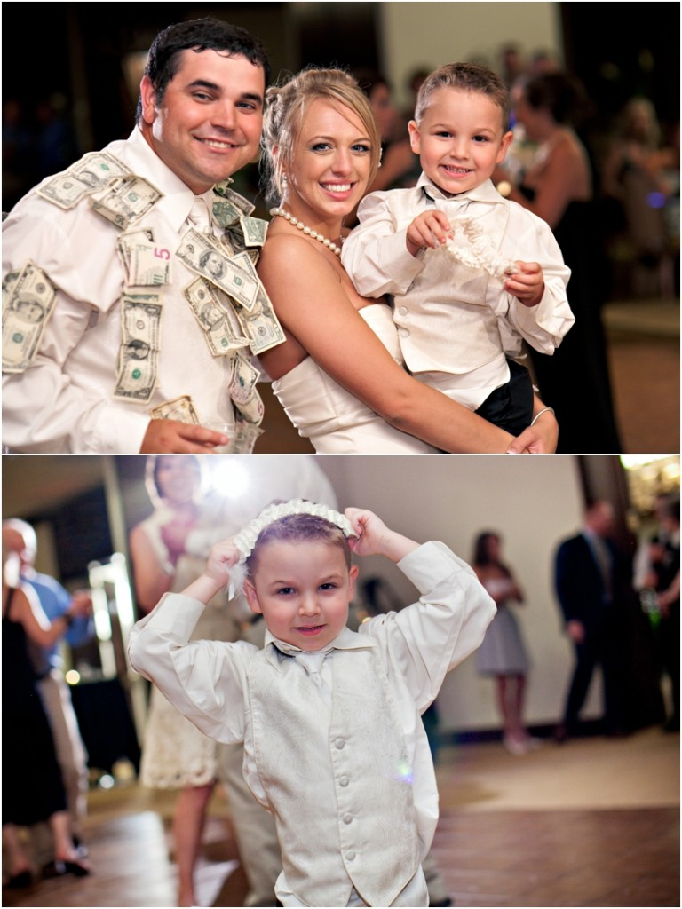 boy caught garter at reception in lubbock