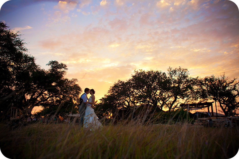 Texas Hill Country Sunset wedding pictures