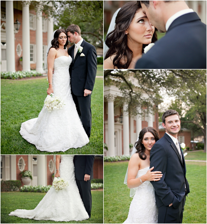 Beautiful Portraits Of Bride And Groom Before Ceremony On The Front Lawn Romantic Wedding Photos