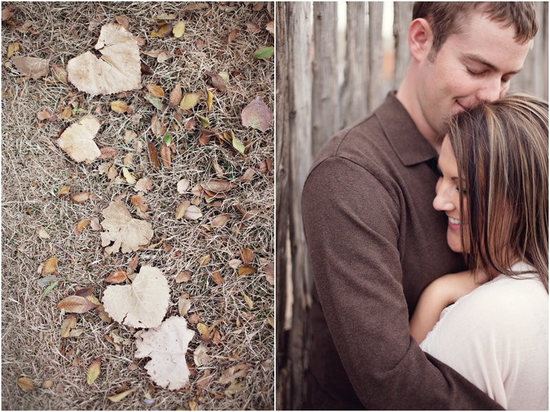 heart shaped leaves engagement