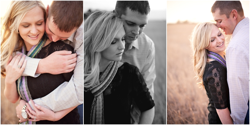 soft romantic engagement pictures in lubbock