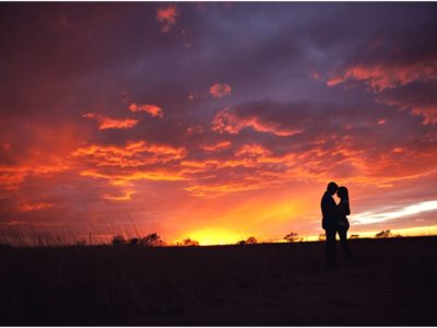 west texas sunset engagement pictures