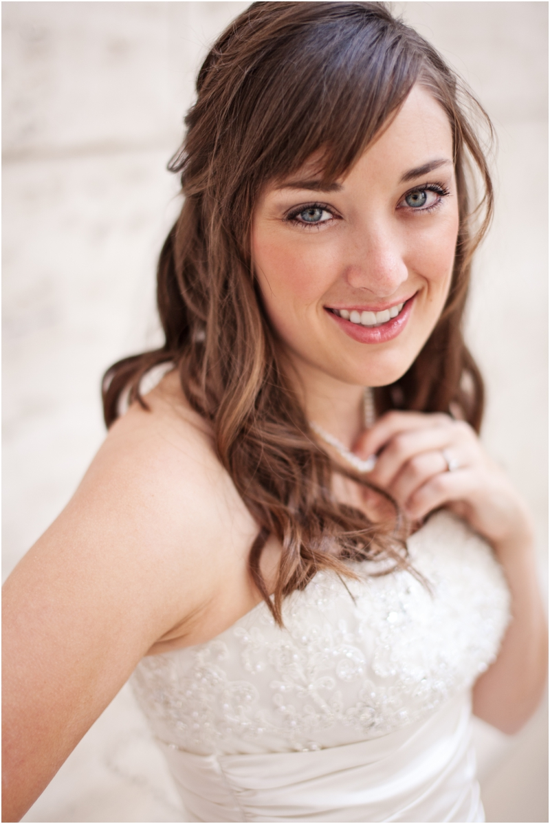 beautiful bride in downtown dallas