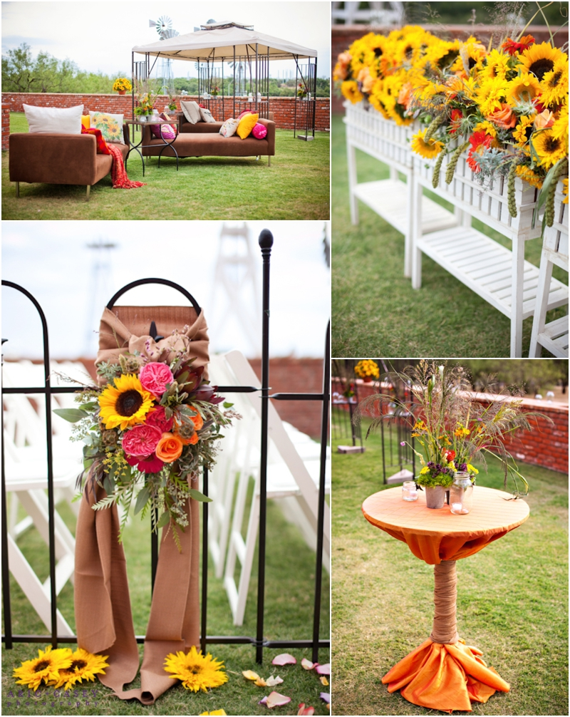 College Flowers Rustic Wedding decor