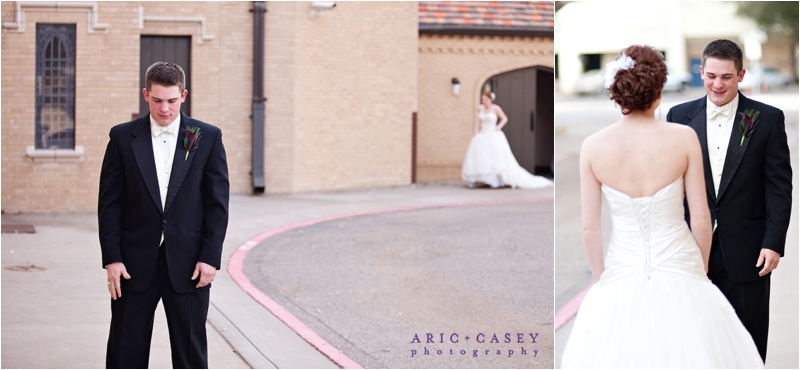 FUMC Lubbock Wedding First Look