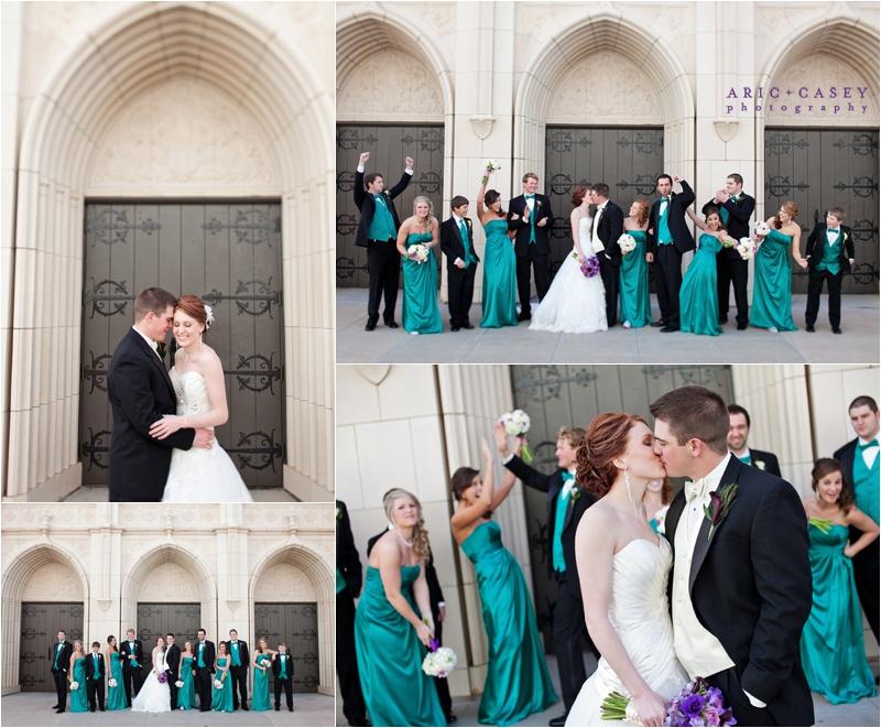 Peacock inspired wedding details