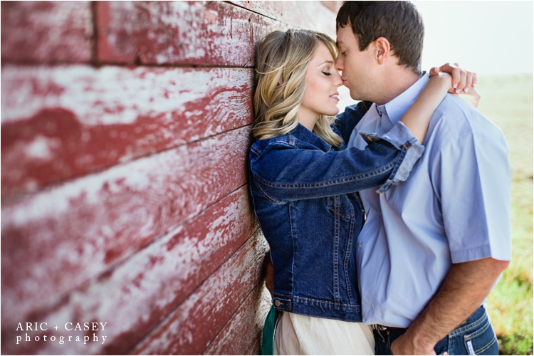 sweet rustic engagement picture in new mexico