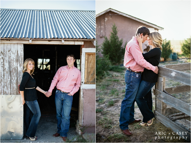 barn engagement photos