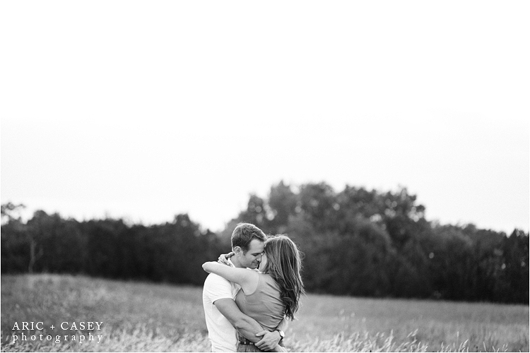 sweet black and white engagement photo