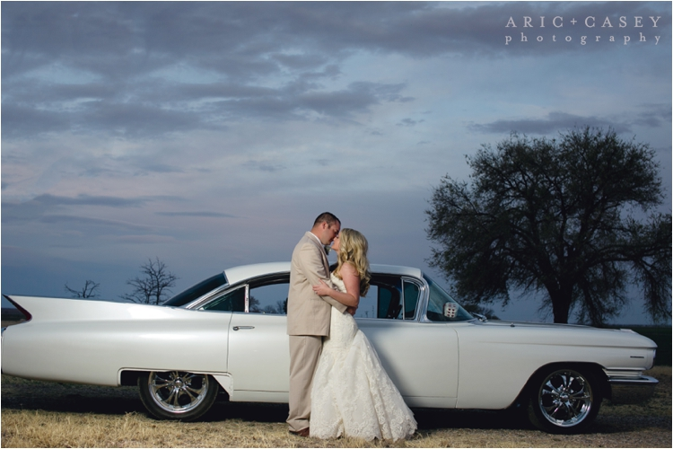 nighttime wedding photos in lubbock