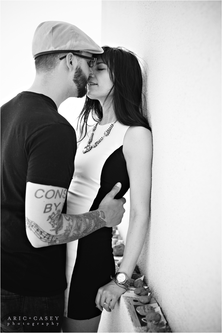 Steamy Calvin Klein inspired engagement pictures