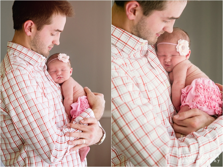 Newborn baby & Daddy photography