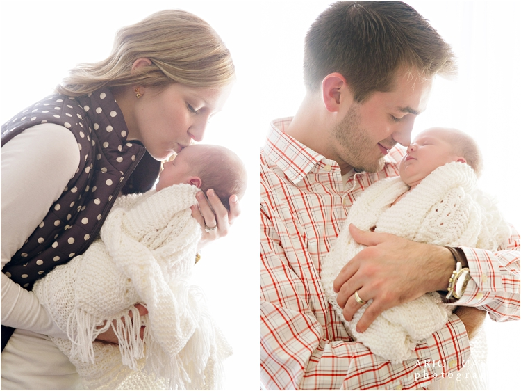 sweet newborn photos with parents