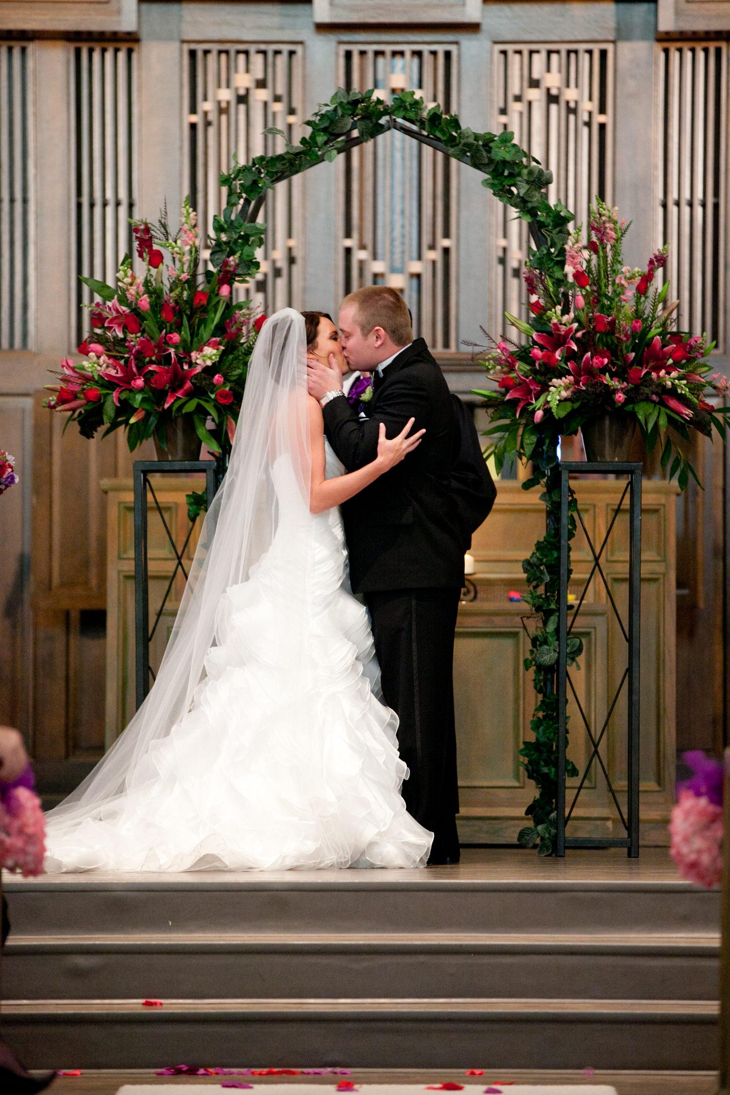 first kiss lubbock wedding