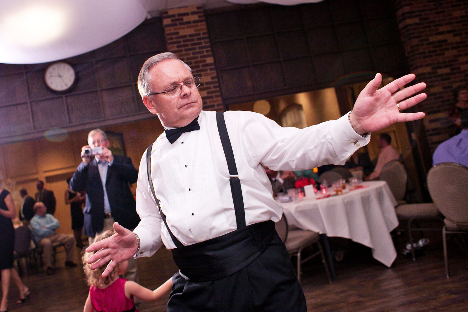 father dancing