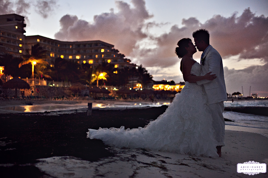 Romantic, Whimsical, Modern, Airy Wedding Pictures of Liz Suh and Tom Maeng at Riu Carribe Hotel in Cancun Mexico for their Destination Wedding by Texas Photographers Aric + Casey Photography