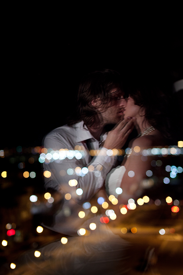 Romantic Reflection: Bride and Groom portrait at The Overton in Lubbock Texas