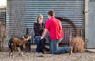 girls reaction from secret photographers point of view of lubbock texas engagement proposal